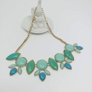 Statement Necklace Teal & Aqua